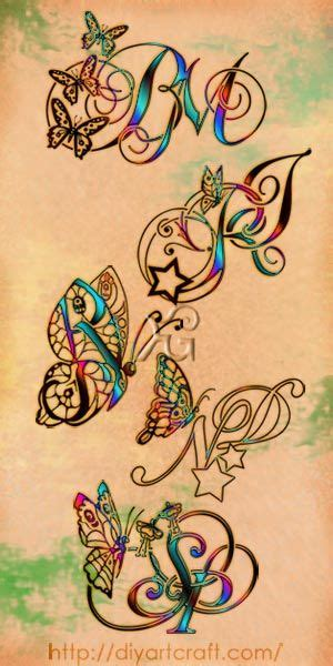 tattoo letter j butterfly 5 monograms tattoo butterfly fantasy tattoo