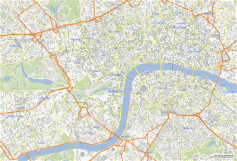 printable london road map london map printable
