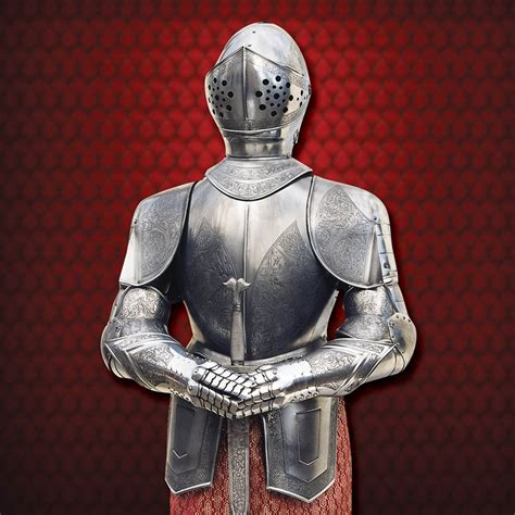 suit of armour with etching
