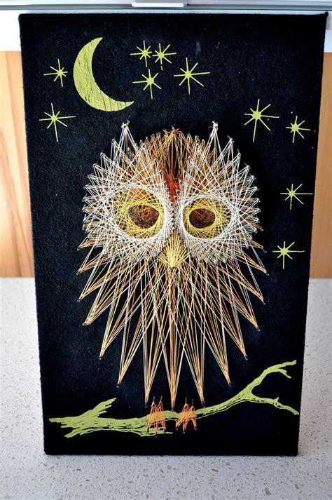 printable string art owl pattern owl string art wall handing perfect for halloween
