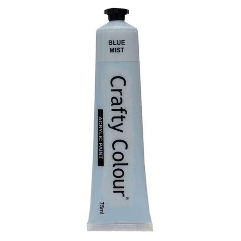 acrylic paint bunnings crafty colour 75ml blue mist acrylic paint bunnings