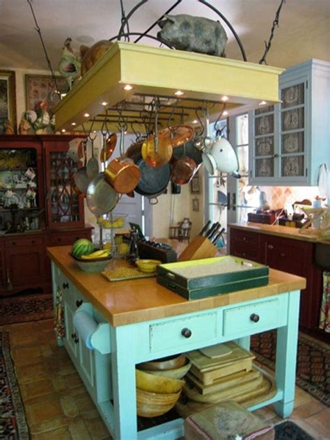 kitchen island with hanging pot rack 170 best images about kitchen islands on pinterest