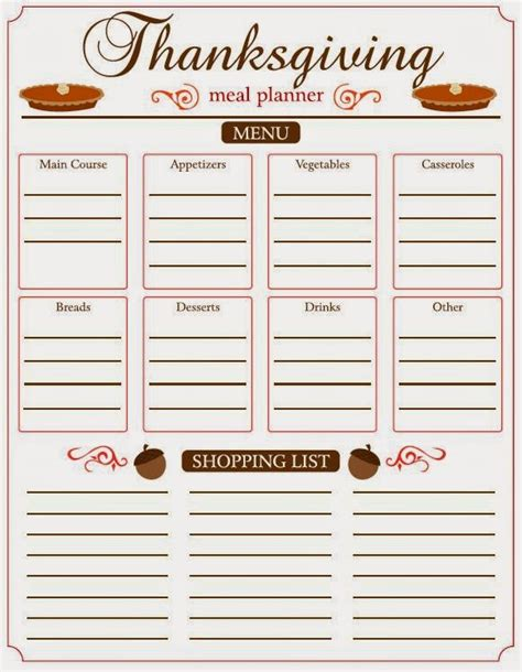 printable thanksgiving meal planner 4mykiddos 5 free thanksgiving meal planner printables