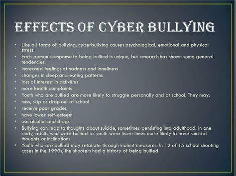 Effects Of Bullying Essay by Cyber Bullying College Essay