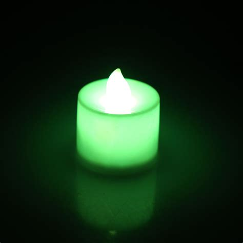 24pcs Flameless Flickering Led Candles Tea Light Battery 24pcs Flameless Battery Operated Led Tea Light Tealights Candles Colorful Gift Ebay