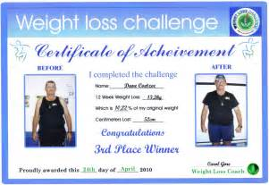 Weight Loss Certificate Template by Antagonist Placeholder
