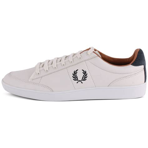 fred perry hopman b5247 mens leather white trainers