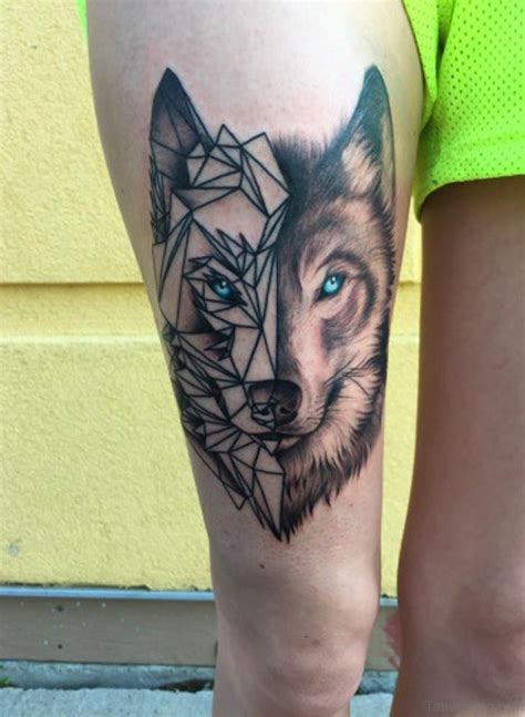 best thigh tattoos 70 great looking wolf tattoos on thigh