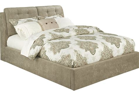 brunetti mink 3 pc upholstered bed with storage