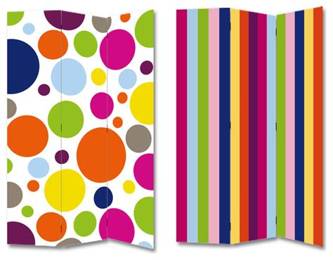 colorful room dividers colorful polka dots rainbow stripes room divider screen