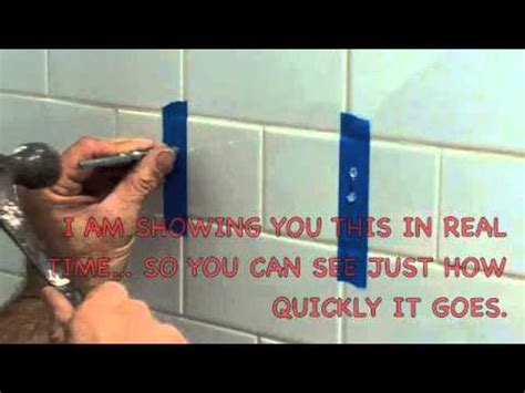 drilling into bathroom tiles how to drill a hole in ceramic tile youtube