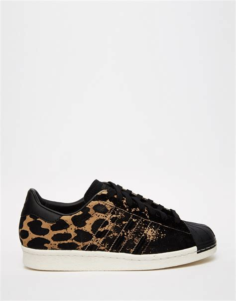 adidas leopard sneakers image 1 of adidas originals superstar 80 s ombre animal