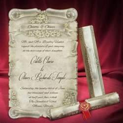 scroll wedding invitation card personalized beautiful invitations creative unique wedding