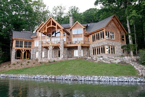 lake house building plans luxury lake retreat architectural designs house plan 26600gg rustic exterior