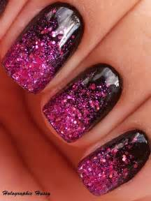black and pink nails with glitter images amp pictures becuo