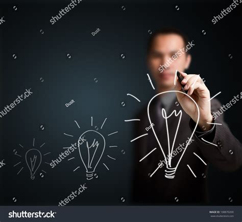 Why Think Businesses Are A Idea by Business Writing Growth Light Bulb Stock Photo