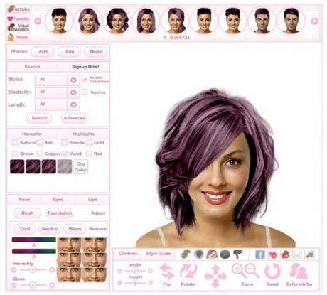 virtual hair makeover for women over 50 free short haircuts for heavy women