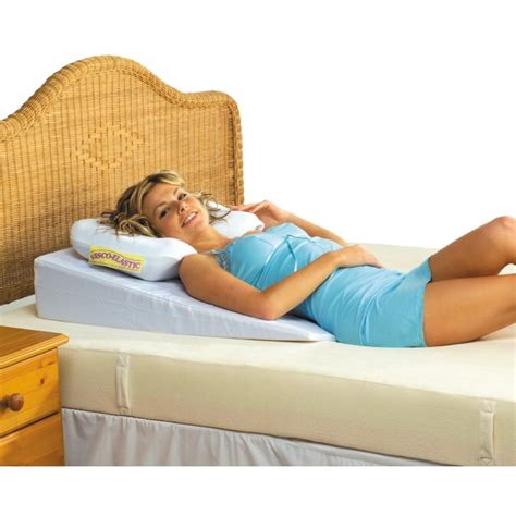pillow for sitting in bed under mattress wedge contoured neck support pillow