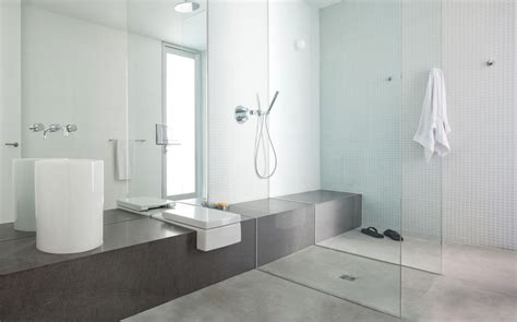 grey white bathroom modern architecture embracing nature russet residence by