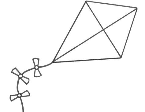 free printable coloring page of a kite early play templates wind templates for global wind day