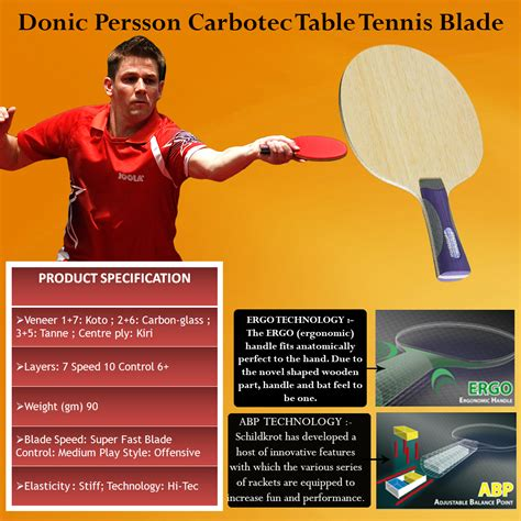 donic table tennis blades donic persson carbotec table tennis blade buy donic
