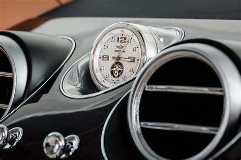 bentley bentaygas breitling mulliner tourbillon clock   worlds  expensive  car