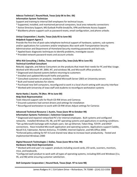 Sle Resume For Bilingual Customer Service Representative Resume For Technical Support Representative