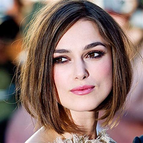 bob hairstyles keira knightley blunt talk short hairstyles for every face shape