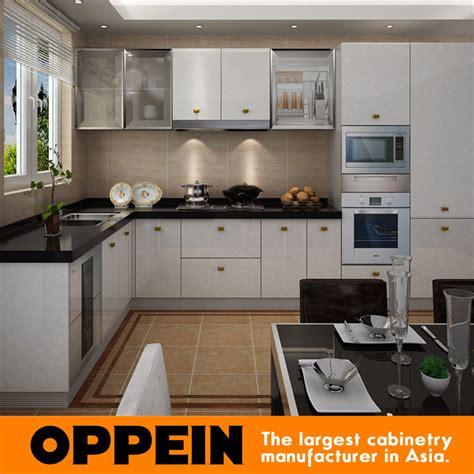 cheap kitchen furniture for small kitchen pvc projects china oppein pvc white l shape wholesale kitchen furniture