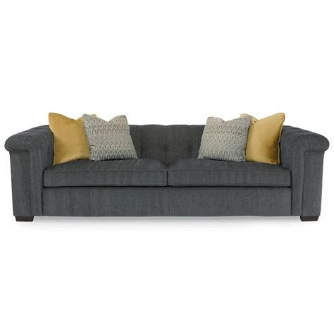 rolled arm sofa piper modern classic tobacco wood grey rolled arm sofa