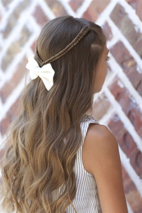 Pretty Hairstyles For School With Braids infinity braid tieback back to school hairstyles