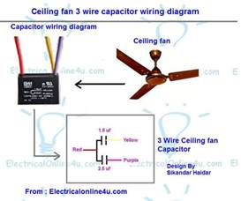 ceiling fan 3 wire capacitor wiring diagram electrical 4u