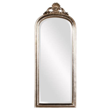 wright silver leaf arched mirror uvhe84021
