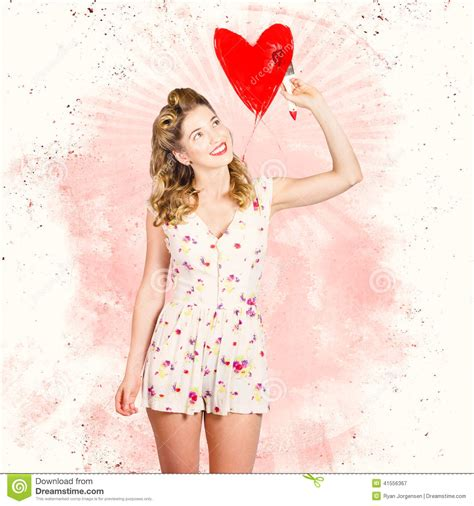 pin up valentines images 50s blond pin up painting stock photo