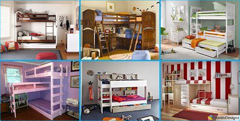 camerette tre letti camerette per bambini con 3 letti 25 idee di arredo