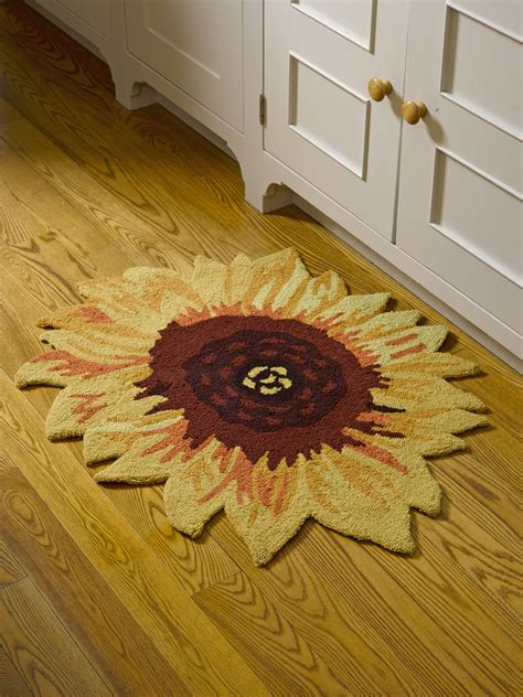 sunflower rugs sunflower accent rug non slip backing 32 quot x26 quot gardeners