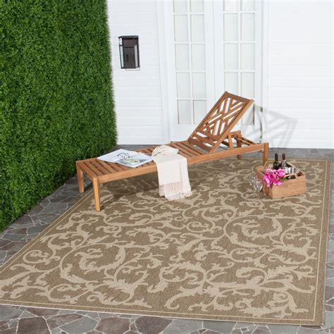 Outdoor Patio Rugs 9 X 12 Safavieh Courtyard Brown 9 Ft X 12 Ft Indoor Outdoor Area Rug Cy2653 3009 9 The Home