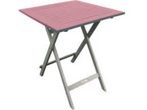 table de jardin 65 cm pliante coloris