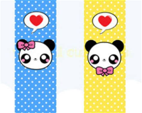 printable panda bookmark 6 best images of kawaii printable bookmarks cute