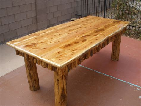 Cedar Dining Table Dining Table Cedar Log Dining Table