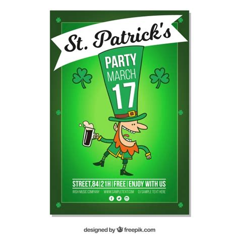day poster template st s day flyer poster template