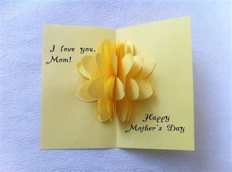 how to make 3d mothers day cards diy pop up flower s day card createsie