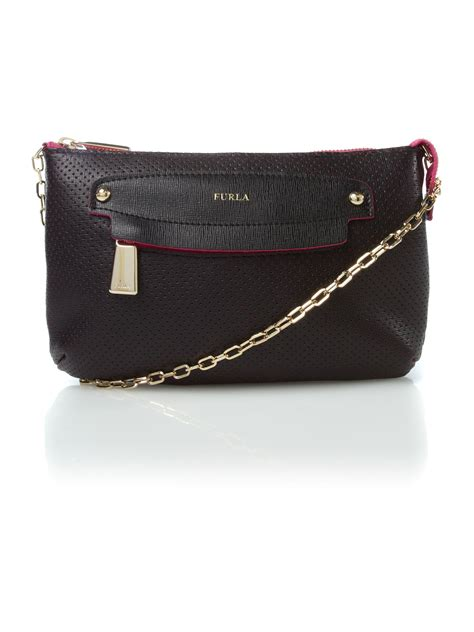 Chain Crossbody Bag furla sibilla chain crossbody bag in black lyst