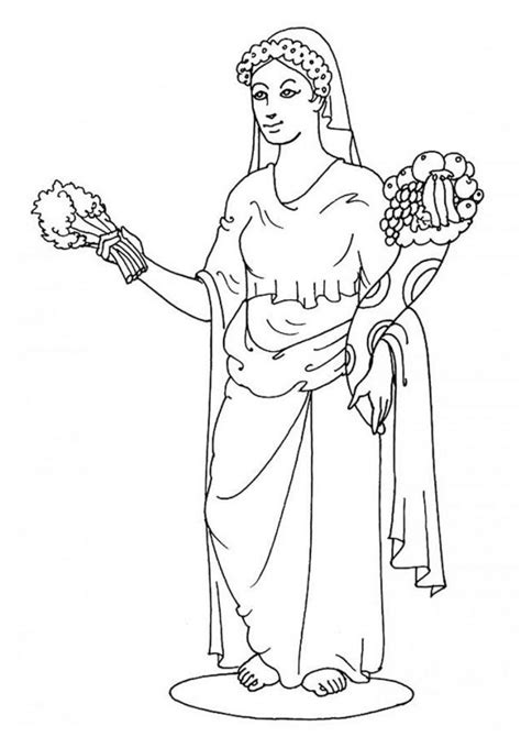 aphrodite coloring page coloring home