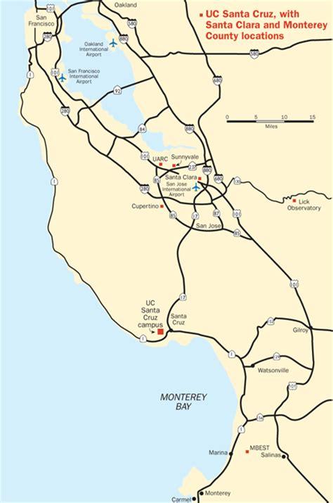 printable maps ucsc directions to the uc santa cruz cus ucsc cus maps