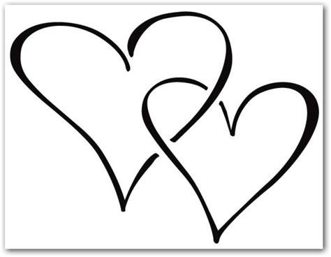 imagenes de 2 corazones unidos corazones tiernos de amor para colorear e imprimir