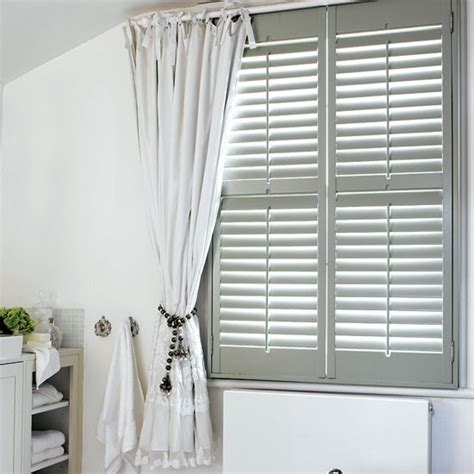 shutters with curtains combine shutters and curtains dress and decorate country