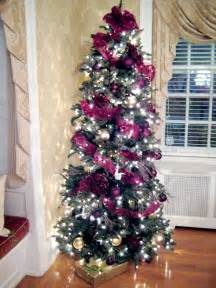 Christmas Tree Decorating Ideas tree in ribbons for a fun full traditional style tree