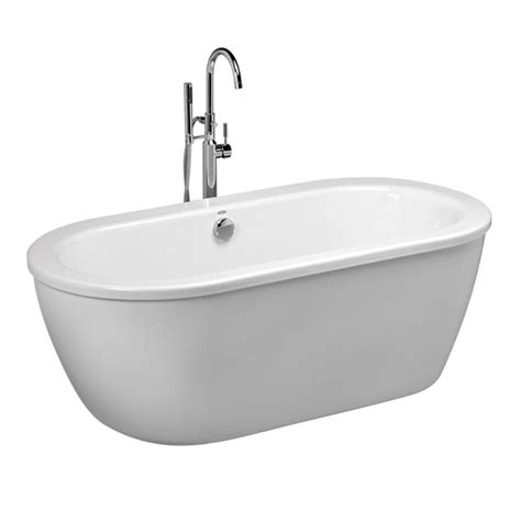 free bathtub american standard cadet 5 5 ft x 32 in center drain free standing bathtub in arctic