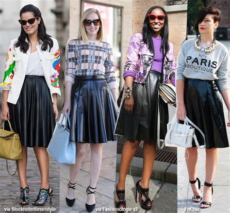 a line leather skirt redskirtz